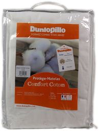Dunlopillo Ochraniacz na materac z bawełny, biały, 140 x 190 cm