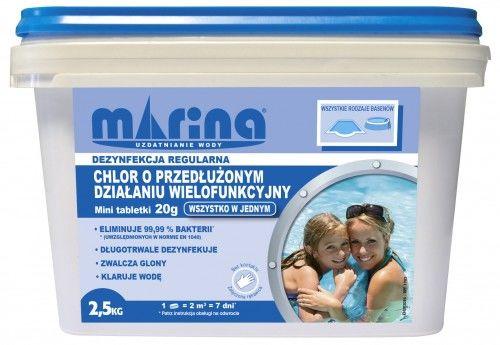 Chlor o przedłużonym działaniu tabletki 20g, Opakowanie 2,5kg
