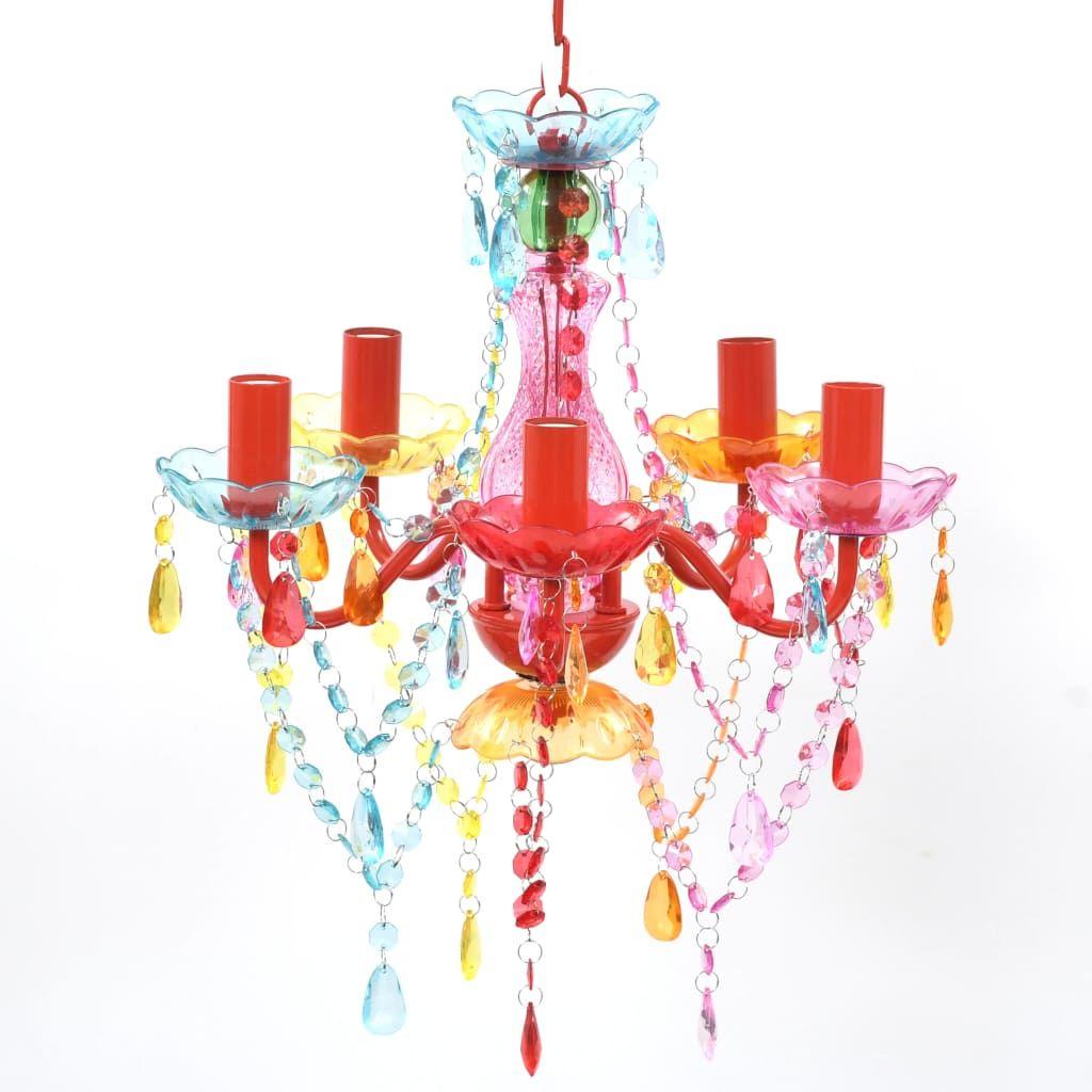 Kolorowy żyrandol kryształowy do salonu - E960-Lovet
