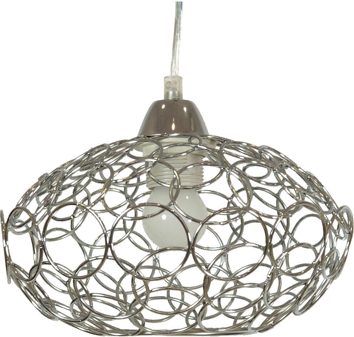 Candellux PINIA 31-13408 lampa wisząca chrom metalowy klosz 1X60W E27 25cm