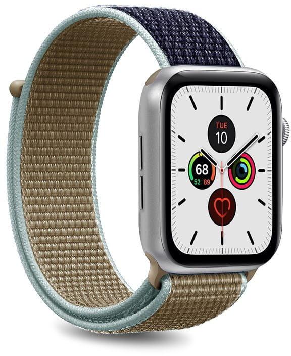 Nylonowy pasek PURO Band Apple Watch 42 / 44 mm (Khaki/Granatowy)