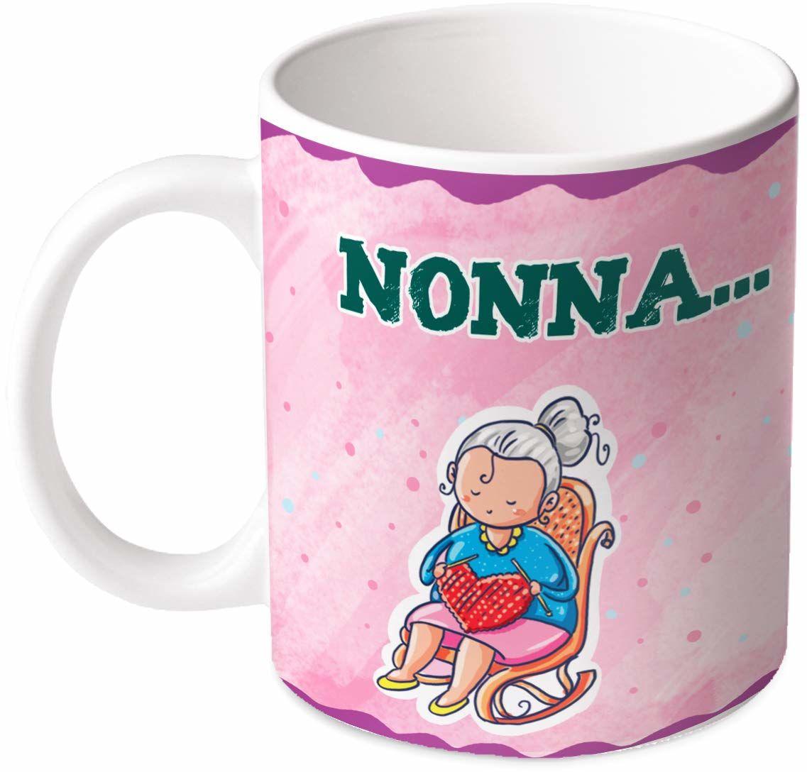 M.M. Group Filiżanka Sentimenti Nonna Sei Come Una seconda Madre. Wenn Sie nicht mit den Freude der Tale und Qualitaet. Ti Voglio Bene, 11 Ounces, ceramika, wielokolorowa
