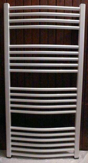 Grzejnik łazienkowy york - wykończenie zaokrąglone, 500x1200, biały/ral