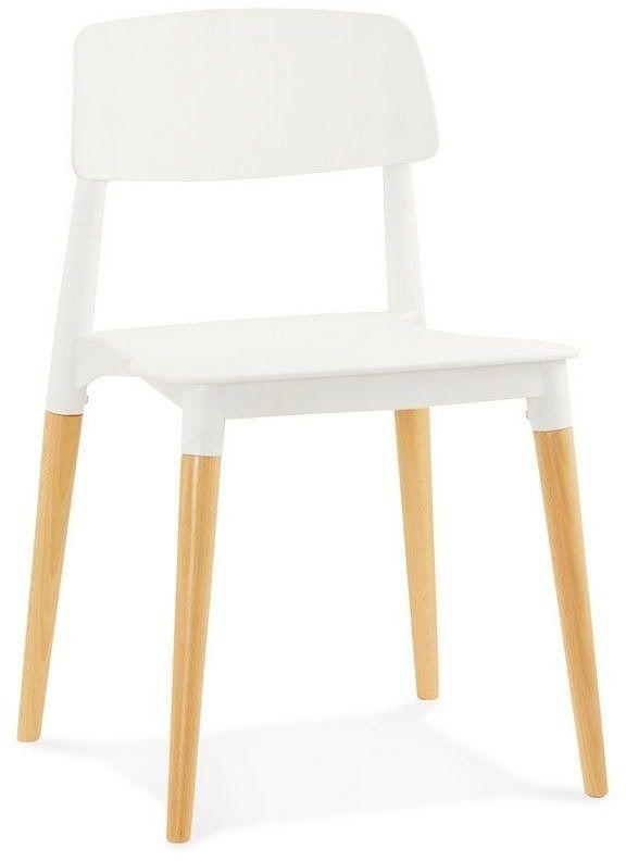Kokoon design - krzesło z tworzywa gorgeous - białe