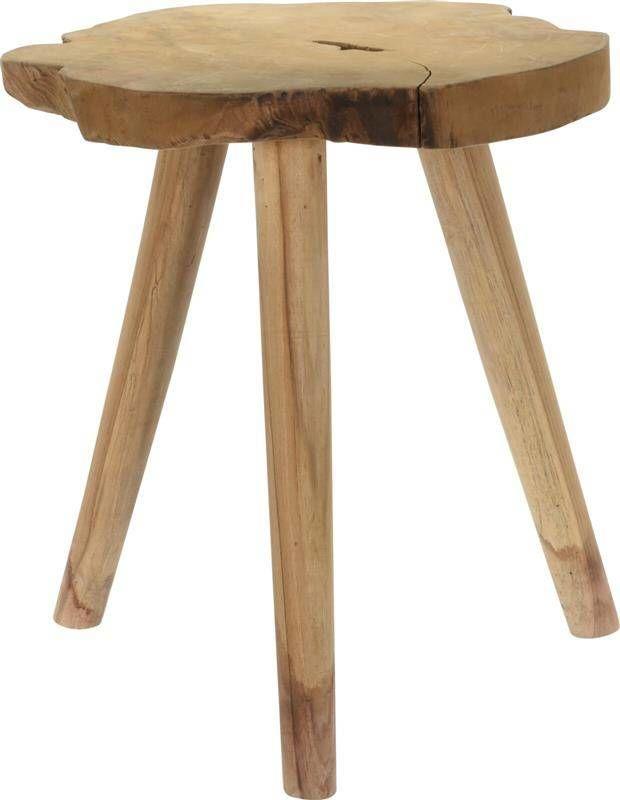Intesi Stubbe drewno tekowe stołek