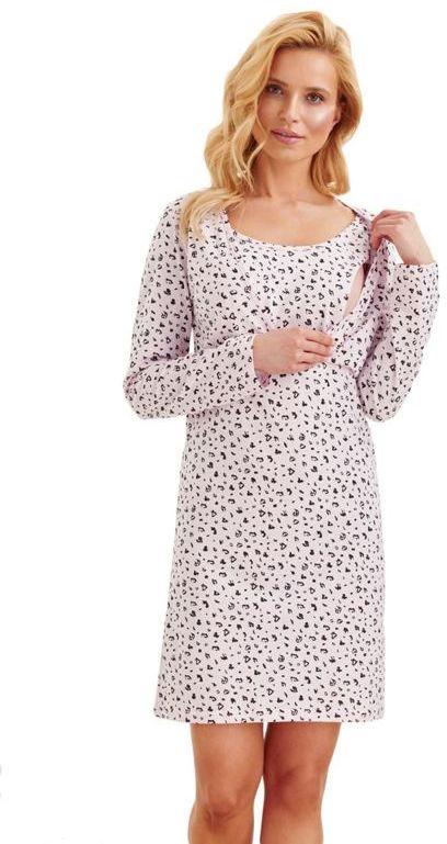 Koszula nocna ciążowa Linda w różowa ze
