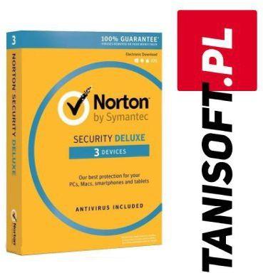 Norton Security 3 urządzenia / 1 rok Polska wersja językowa! / szybka wysyłka na e-mail / Faktura VAT / 32-64BIT / WYPRZEDAŻ