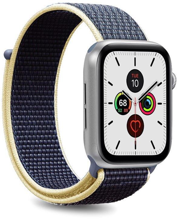 Nylonowy pasek PURO Band Apple Watch 42 / 44 mm (Niebieski)