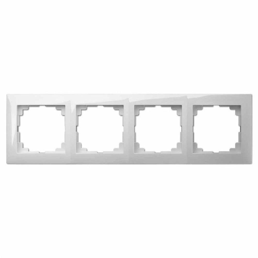 Ramka poczwórna CARLA Biały ELEKTRO-PLAST
