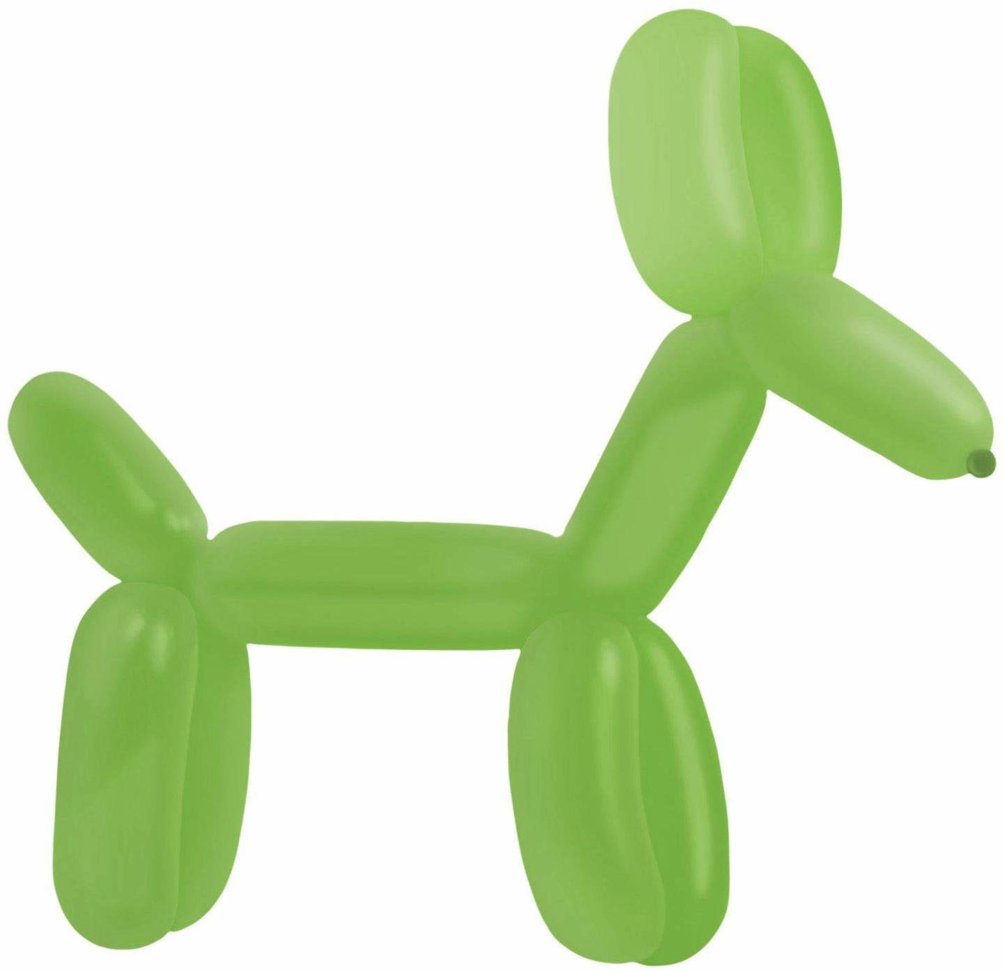 amscan 9905532 100 balony lateksowe do modelowania standard E260, zielone