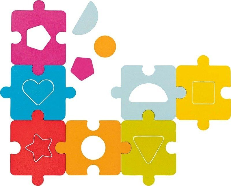 Drewniane puzzle dla dzieci Tęczowy sorter 57694- Goki, gratka dla trzylatka