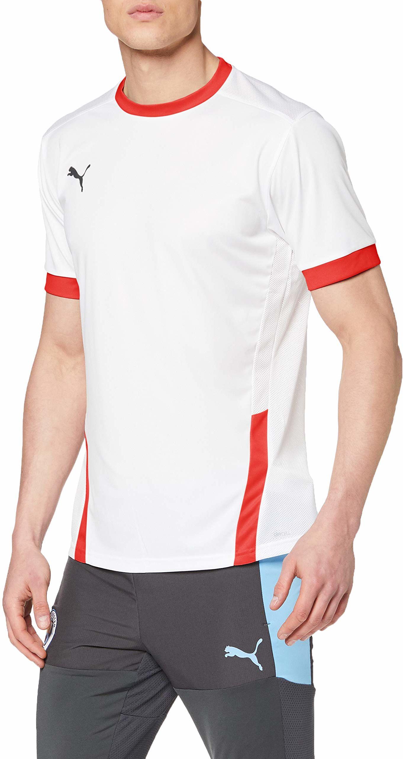 PUMA koszulka męska Teamgoal 23 Puma White-puma Red M