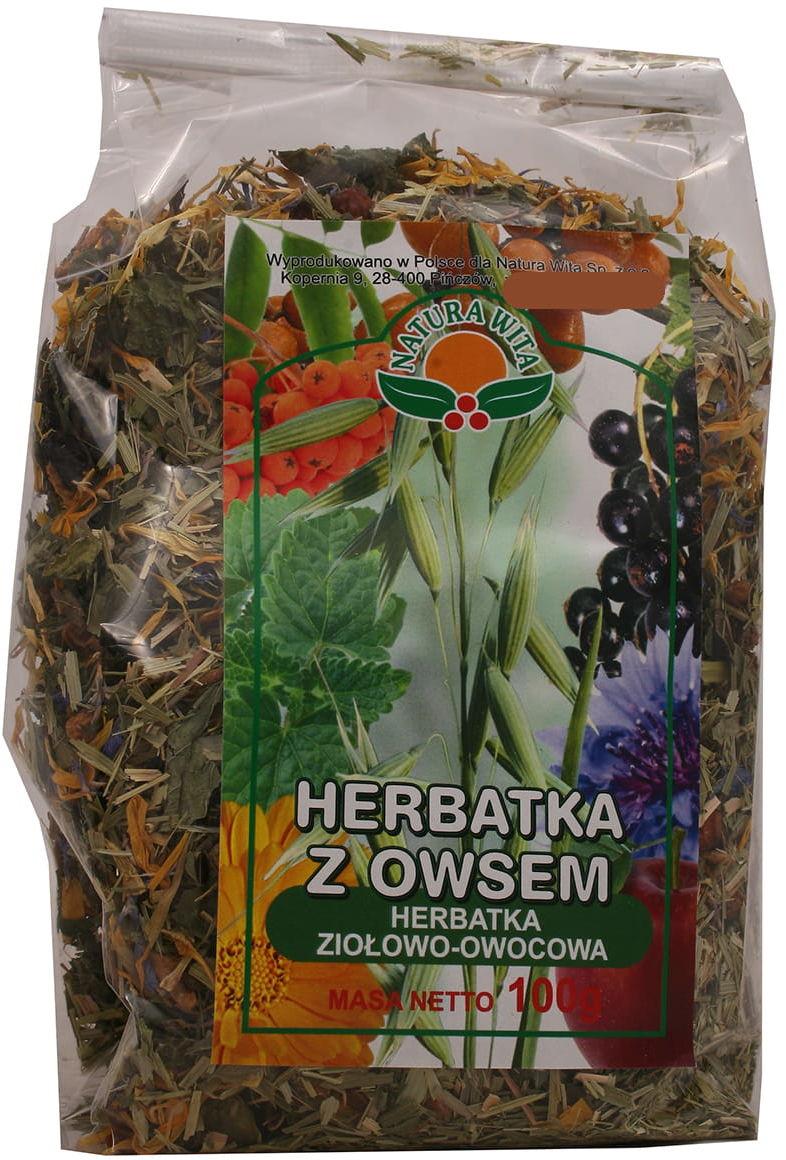 Herbatka z owsem ziołowo owocowa 100g Natura Wita