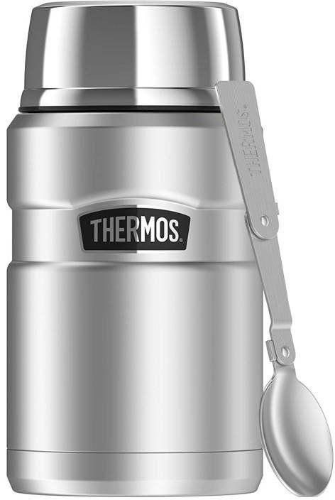 Termos na jedzenie z łyżką Thermos 0,7 l Stainless King - srebrny - srebrny