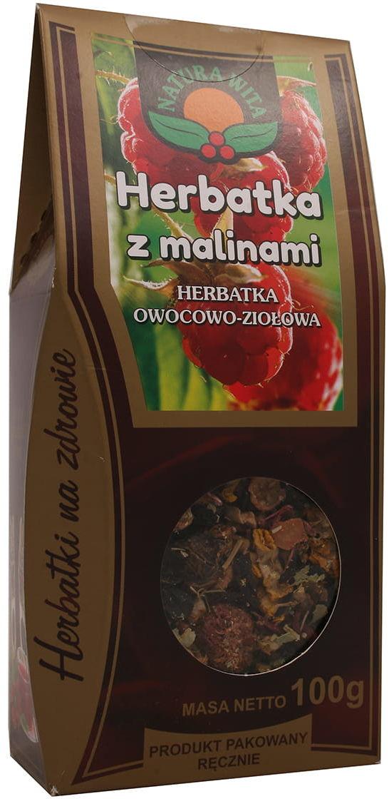 Herbatka z malinami 100g Natura Wita