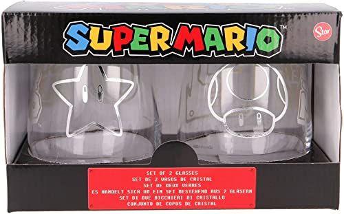 Stor Zestaw szklanek Super Mario 510 ml, tworzywo sztuczne, jednokolorowy, 2 sztuki (1 opakowanie), 2