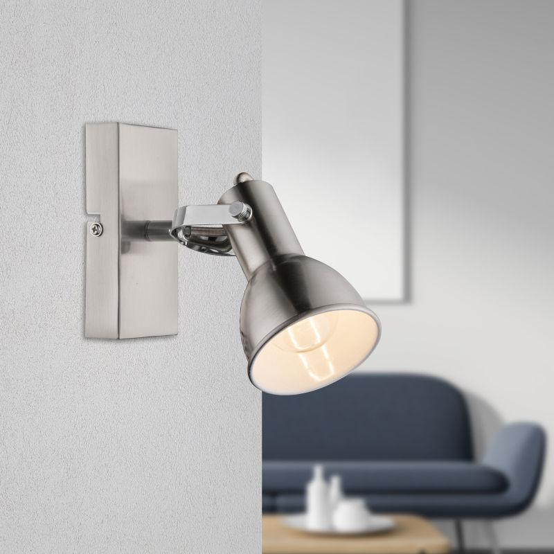 Globo FARGO 54642-1 kinkiet lampa ścienna nikiel mat 1xE14 40W 15,5cm