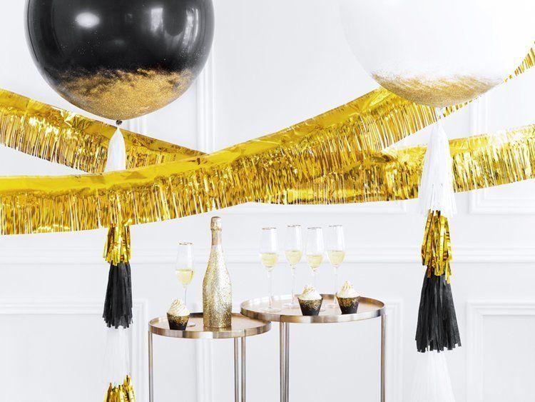 Kurtyna Party złota 18,5x400 cm 1szt CRT2-019