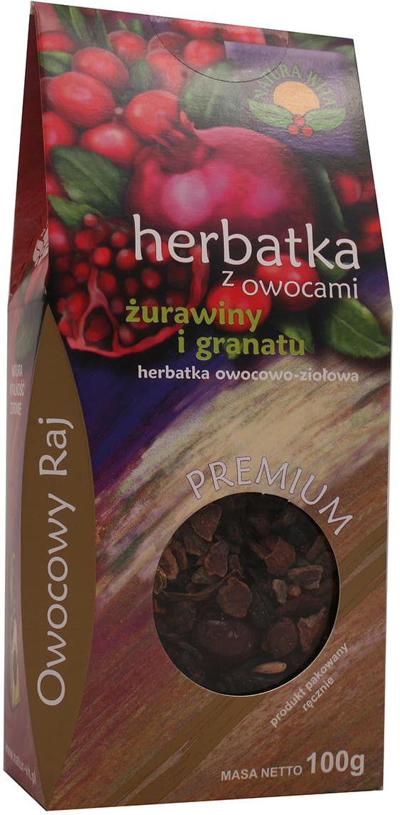 Herbatka z owocami żurawiny i granatu 100g Natura Wita