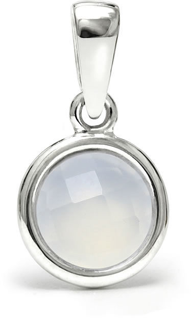 Kuźnia Srebra - Zawieszka srebrna, 17mm, Chalcedon, 1g, model