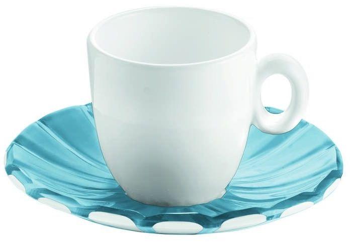 Guzzini - grace - kpl. 2 filiżanek espresso, niebieski