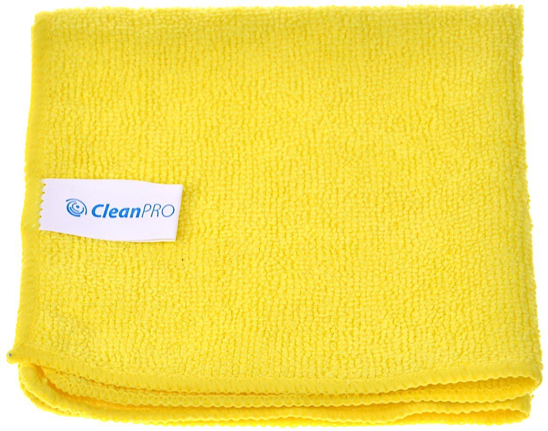 Ścierka z mikrofazy żółta CleanPRO ULTRA SOFT 30x30 cm