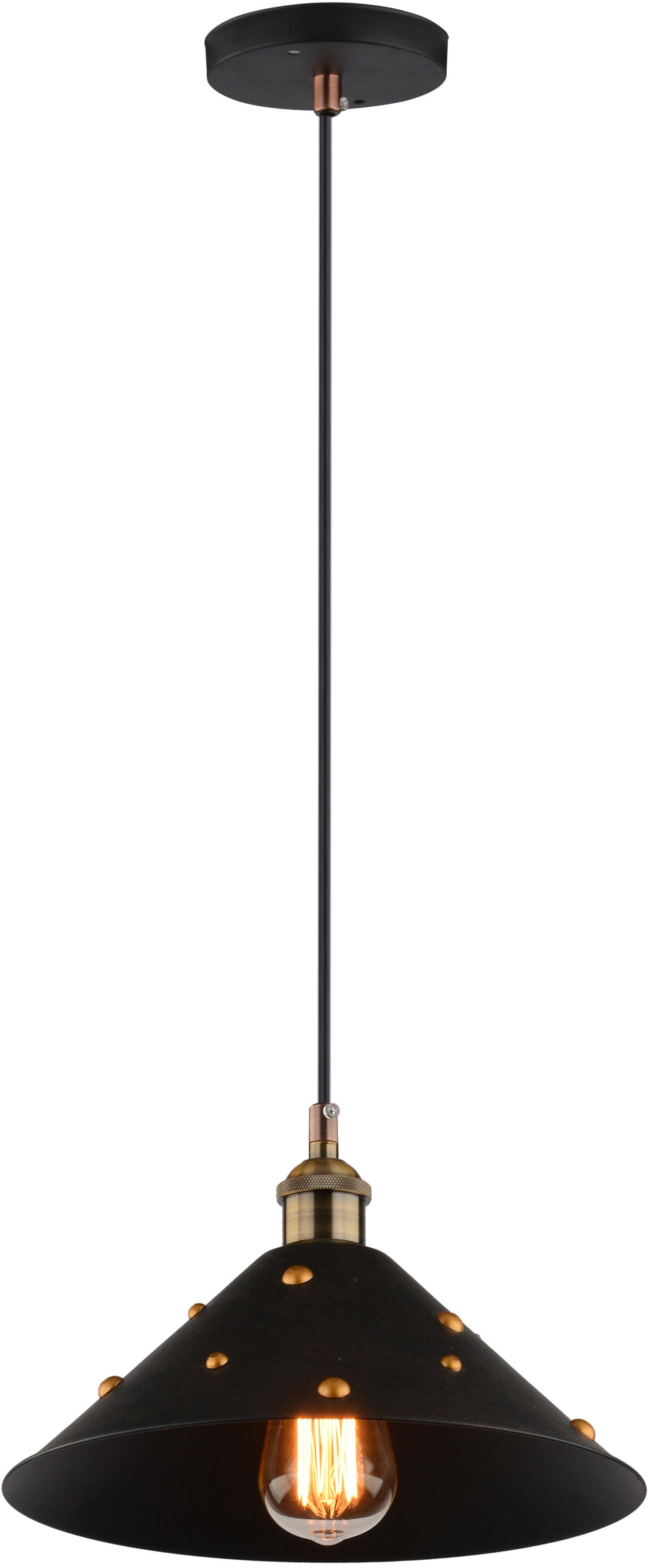 Candellux SCRIMI 31-58140 lampa wisząca czarny metalowy klosz czarny talerz 1X40W E27 29cm