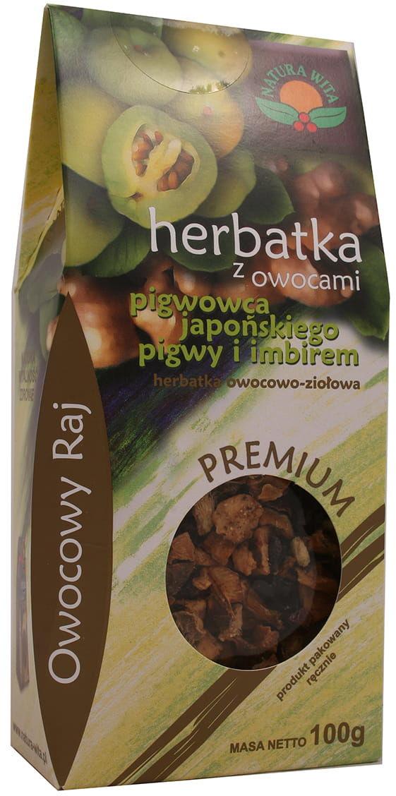 Herbatka z owocami pigwowca japońskiego pigwy i imbiru 100g Natura Wita
