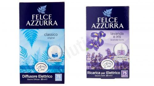 Zestaw Felce Azzurra Classico, Lawenda - elektryczny odświeżacz powietrza + uzupełnienie