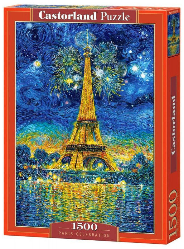 Puzzle Castorland 1500 - Obchody Paryża, Paris Celebration