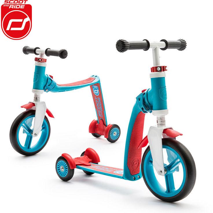 SCOOT AND RIDE Highwaybaby PLUS 2w1 hulajnoga i rowerek 1+ Blue