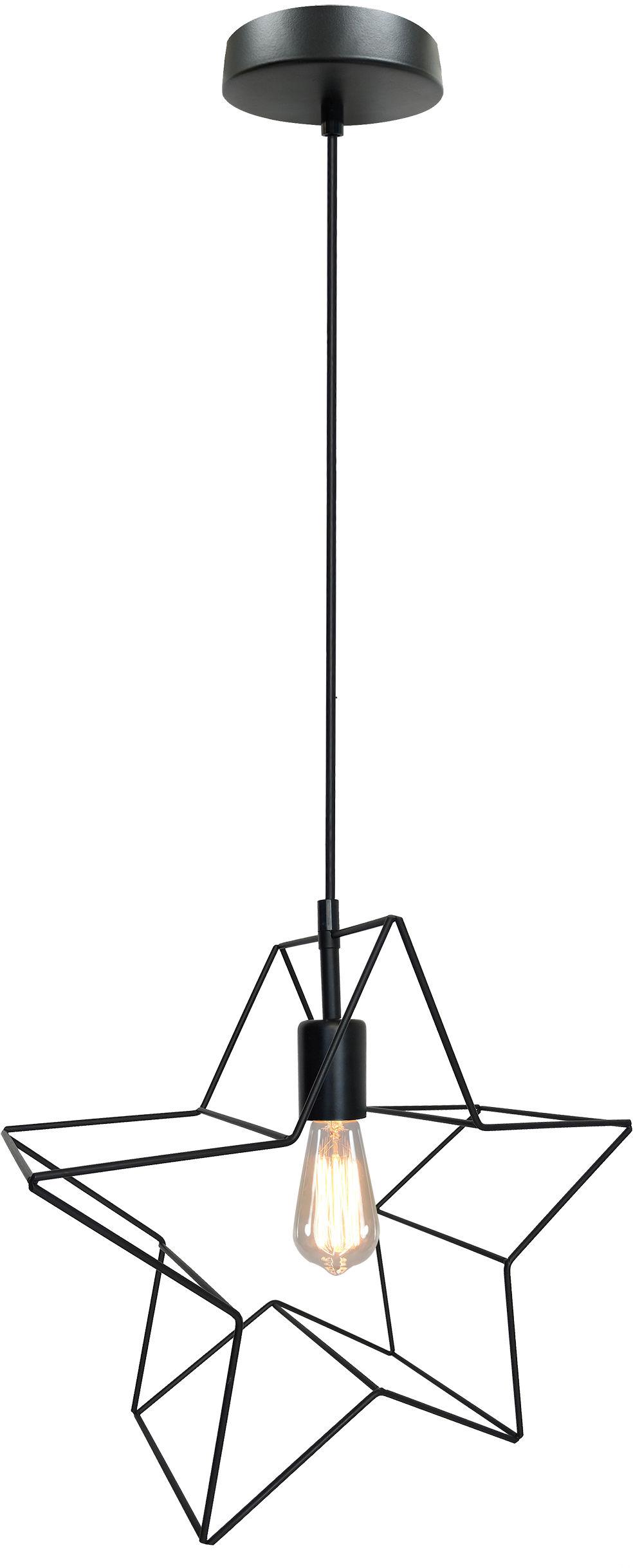 Candellux GWIAZDKA 31-64080 lampa wisząca 1X60W E27 koszyczek metalowy czarny 37 cm