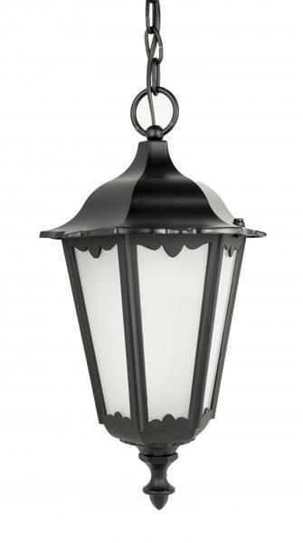 Lampa wisząca zewnętrzna Retro Classic K 1018/1/D czarny