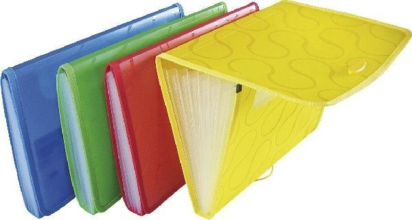 Teczka harmonijkowa PANTA PLAST OMEGA EX4315 A4 6 przegródek ekologiczna