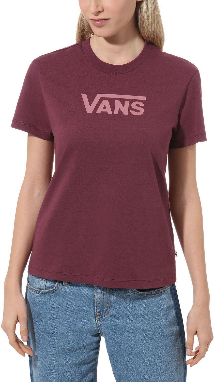 t-shirt damski VANS FLYING V CLASSIC Prune