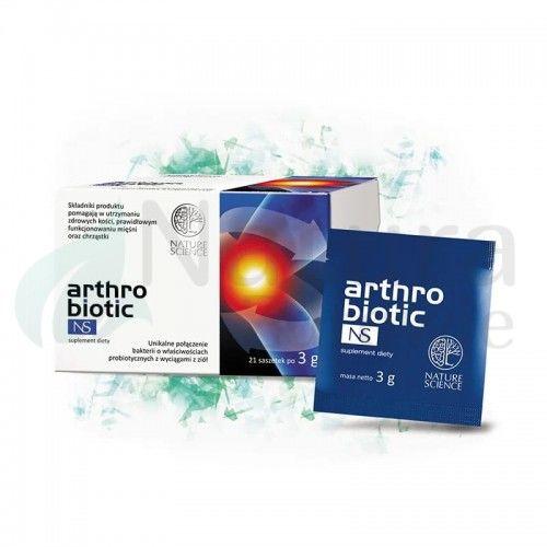Arthrobiotic NS Saszetki zdrowe kości, mięśnie i chrząstki Vege Bezglutenowy
