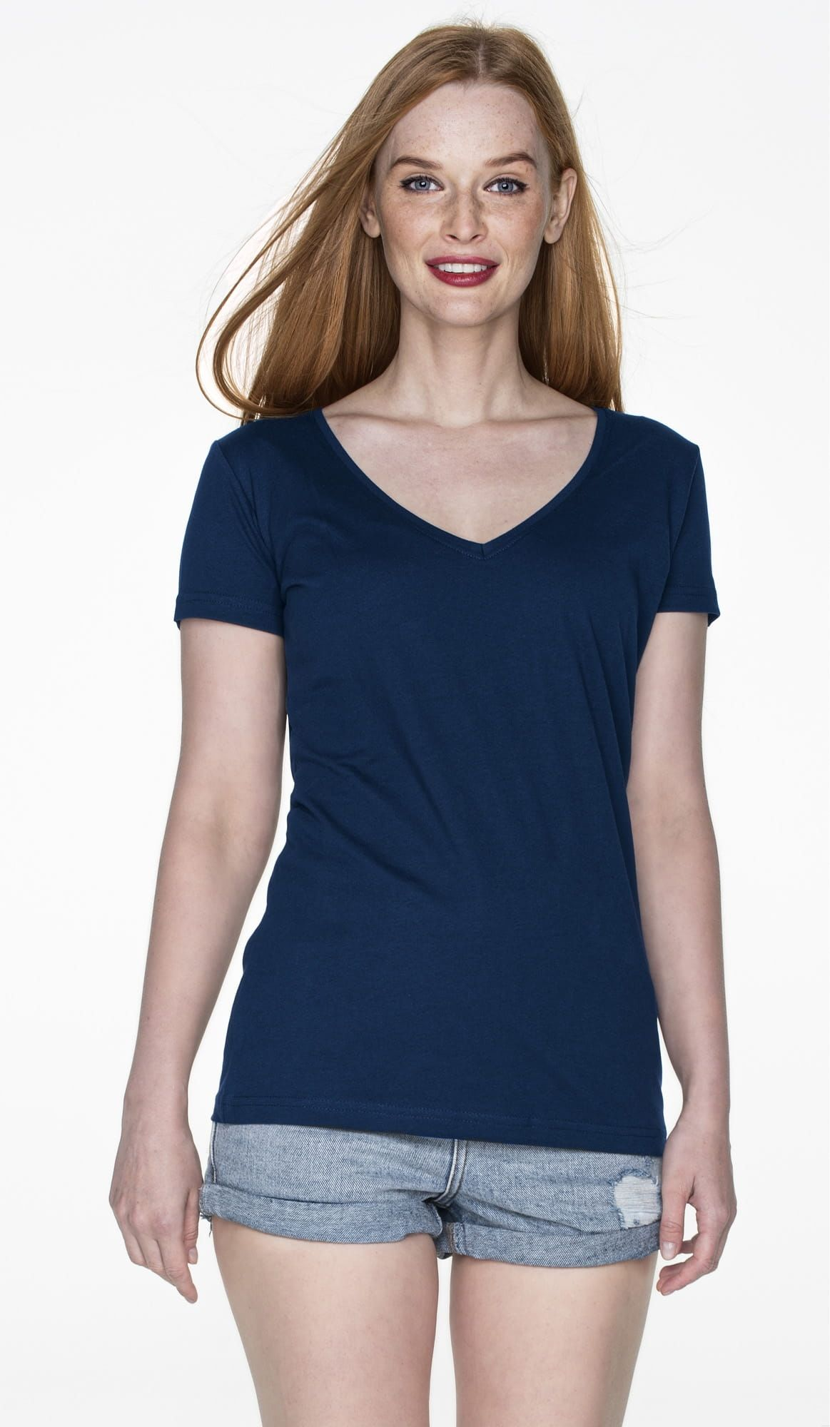 T-shirt ladies v-neck