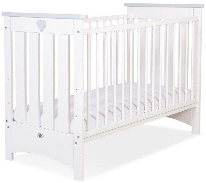 Łóżeczko białe drewniane Szare serduszko, 50230706-My Sweet Baby