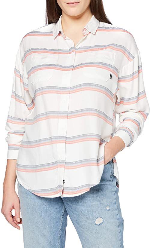 Hurley Damska koszulka w Wilson Stripe L/S szary Sail M