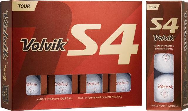 Piłki golfowe VOLVIK TOUR S4 (białe)