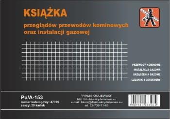 Książka przeglądów przewodów kominowych oraz instalacji gazowych [Pu/A-153]