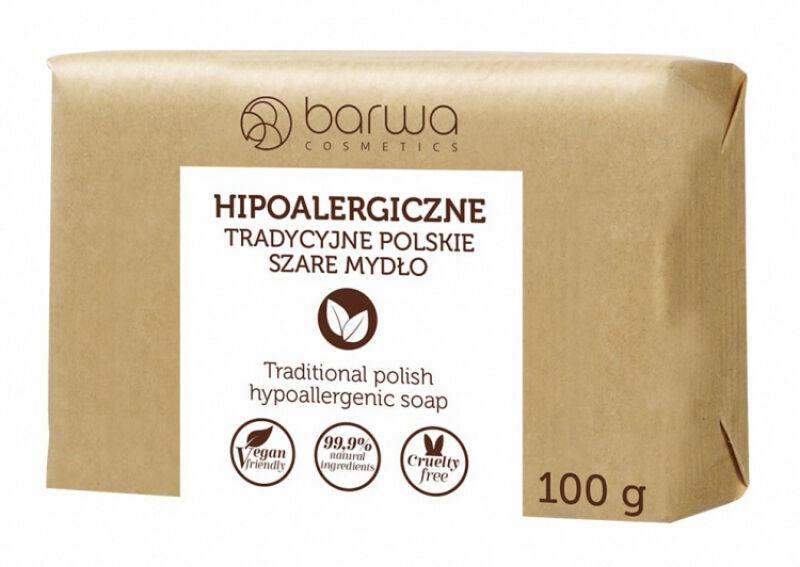 BARWA - BARWA HIPOALERGICZNA - HYPOALLERGENIC TRADITIONAL SOAP - Hipoalergiczne Szare Mydło