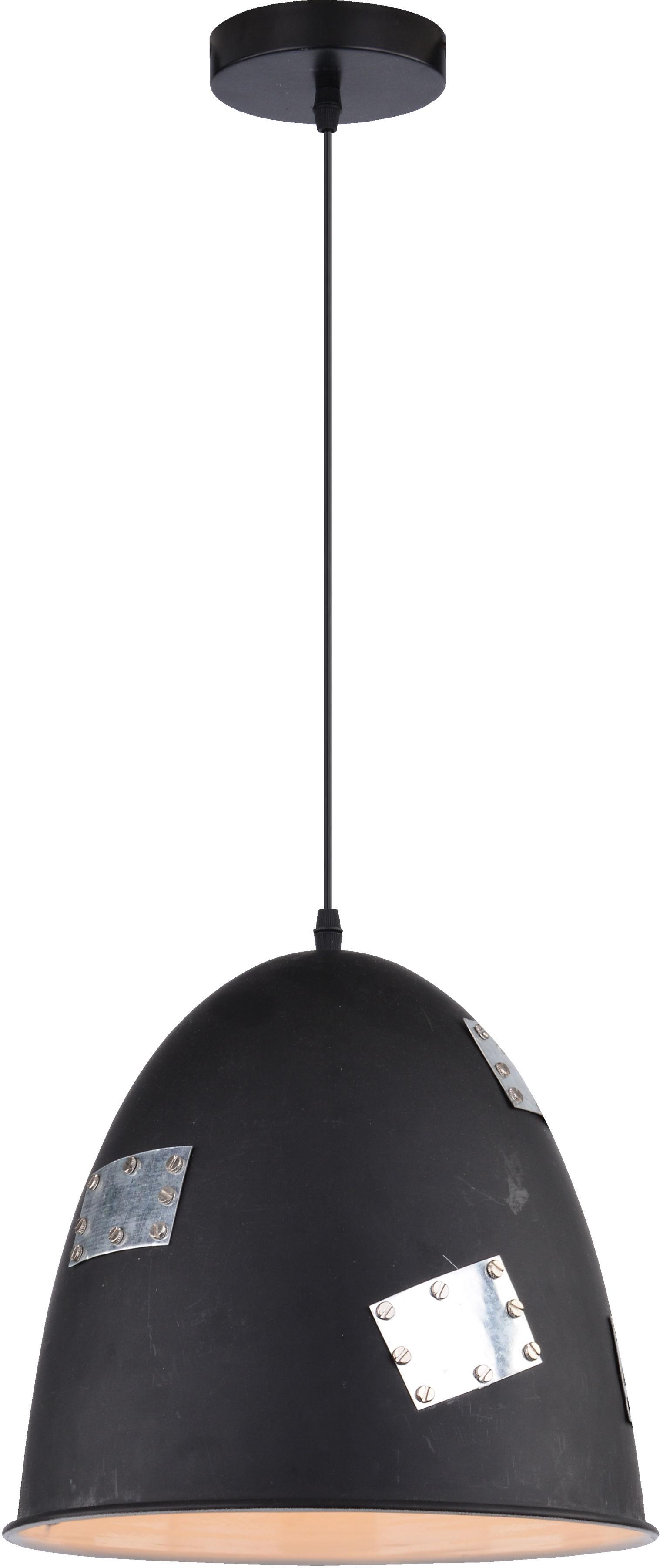 Candellux PATCH 31-43184 lampa wisząca 1X60W E27 klosz metalowy czarny+ chrom dekor 29 cm