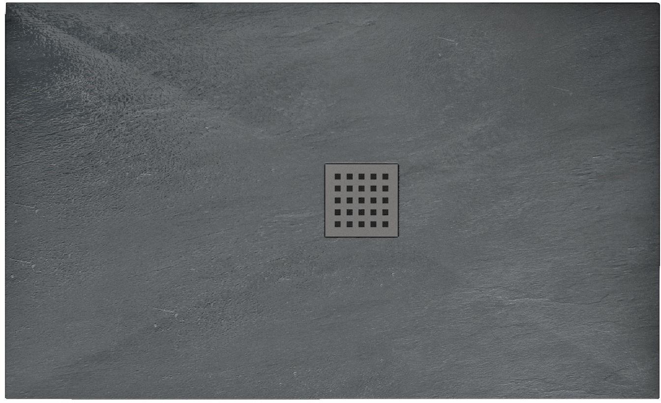 Rea Brodzik prysznicowy Grey Rock 80 x 120