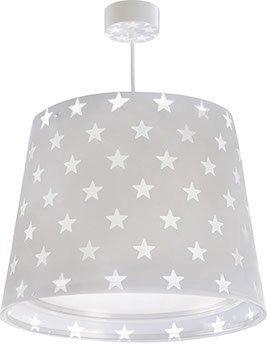 Lampa sufitowa zwis szara w gwiazdki