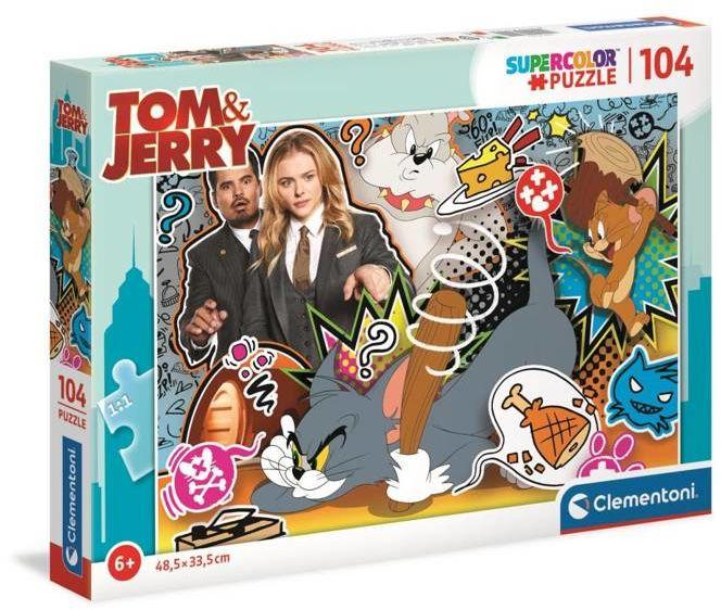 Puzzle 104 Super Kolor Tom&Jerry - Clementoni