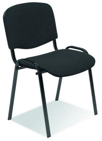 Krzesło ISO ciemno szare biurowe na metalowych nogach  KUP TERAZ - OTRZYMAJ RABAT