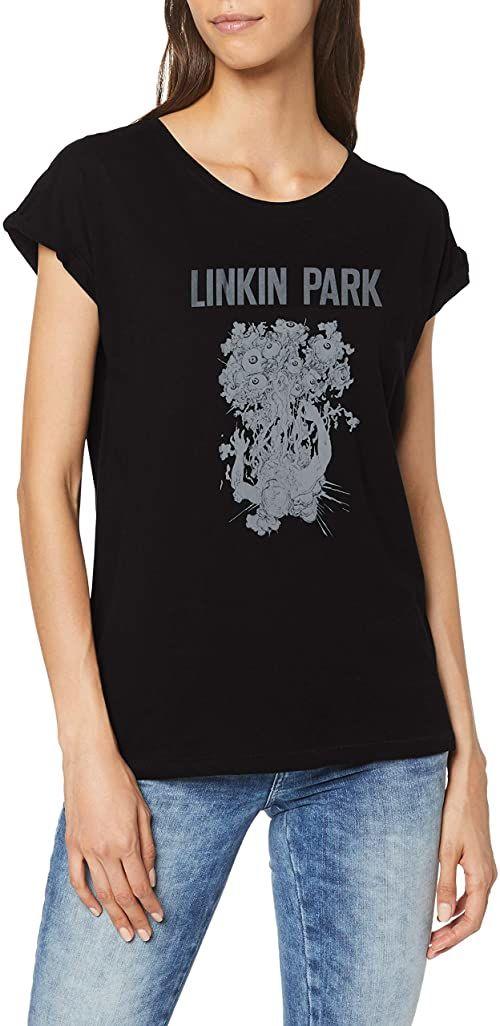 Linkin Park Eye Guts Band Tee koszulka damska z nadrukiem i napisem czarny czarny X-S