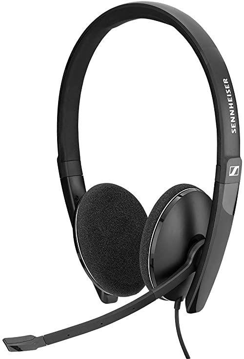 Sennheiser PC 8.2 CHAT 1000446, Słuchawki z Mikrofonem, Czarny/Srebrny