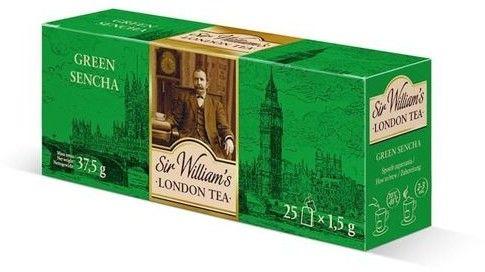 Zielona herbata Sir Williams London Tea Green Sencha 25x1,5g